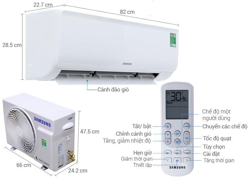 Thông số kỹ thuật Máy lạnh Samsung Inverter 1.5 HP AR13MVFHGWKNSV