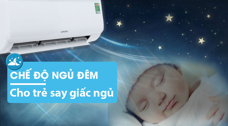 Good Sleep - Máy lạnh Samsung Inverter 12000 BTU AR13MVFHGWKNSV