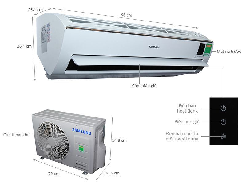 Thông số kỹ thuật Máy lạnh Samsung Inverter 1.5 HP AR13MVFSBWKNSV