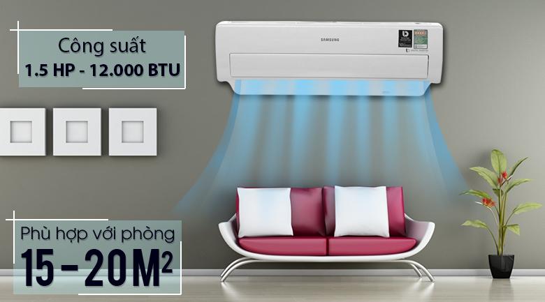 Công suất 1.5 HP - Máy lạnh Samsung Inverter 1.5 HP AR13MVFSBWKNSV