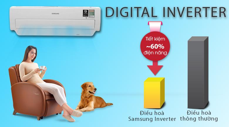Digital Inverter - Máy lạnh Samsung Inverter 1 HP AR10MVFSBWKNSV
