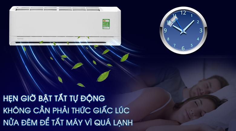 Hẹn giờ bật/tắt máy - Máy lạnh Toshiba 1.0 HP RAS-H10QKSG-V