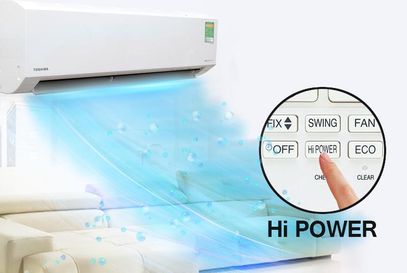 Khả năng làm lạnh nhanh nhờ vào chế độ HI Power