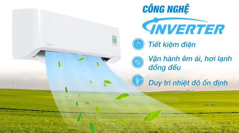 Công nghệ biến tần Hybird Inverter - Máy lạnh Toshiba Inverter 1.5 HP RAS-H13PKCVG-V