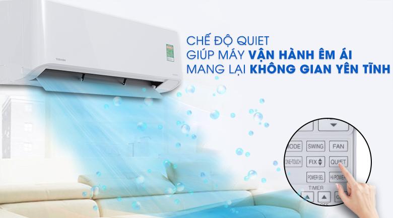 Hoạt động siêu êm - Máy lạnh Toshiba Inverter 1.5 HP RAS-H13PKCVG-V