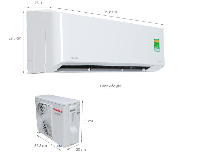 Thông số kỹ thuật Máy lạnh Toshiba 1.0 HP RAS-H10ZKCV-V