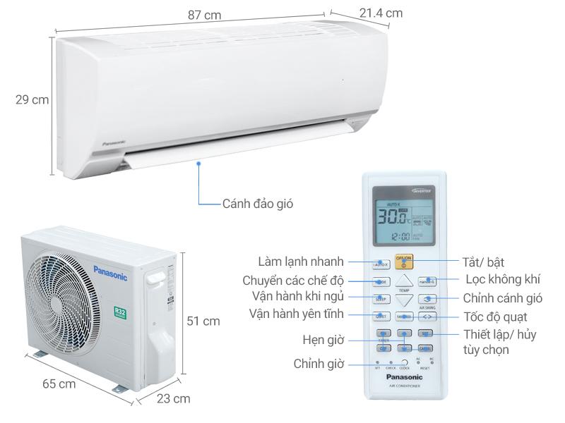 Thông số kỹ thuật Máy lạnh Panasonic 1.0 HP CU/CS-N9SKH-8