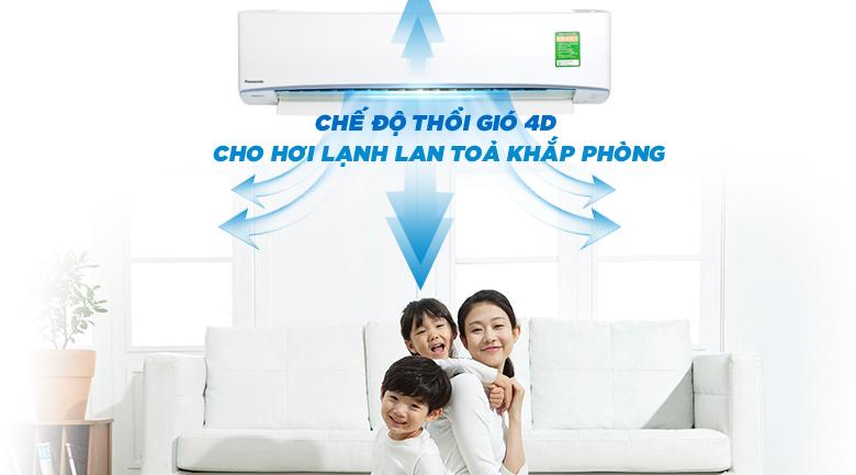 Chế độ thổi gió 4 chiều - Máy lạnh Panasonic Inverter 2.5 HP CU/CS-U24TKH-8