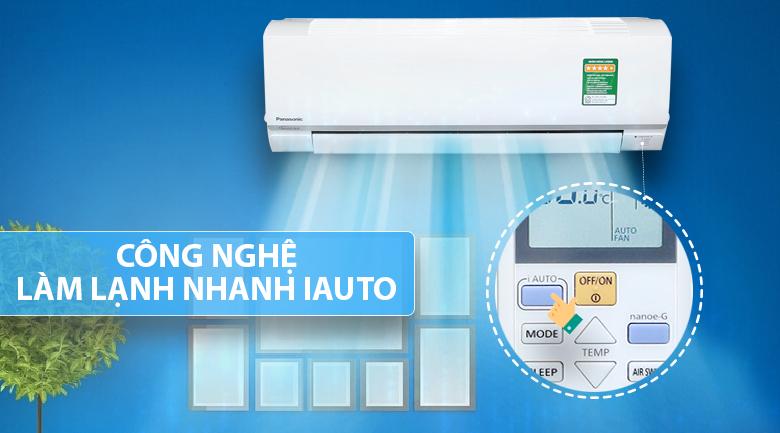 Công nghệ iAuto - Máy lạnh Panasonic Inverter 1 HP CU/CS-PU9TKH-8