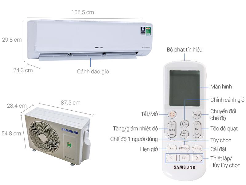Thông số kỹ thuật Máy lạnh Samsung Inverter 2.0 HP AR18MVFHGWKNSV