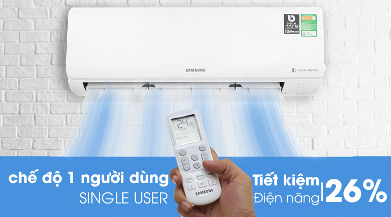 Single user - Máy lạnh Samsung Inverter 2.0 HP AR18MVFHGWKNSV