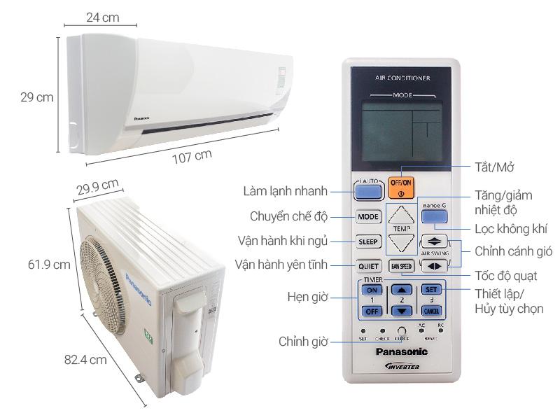 Thông số kỹ thuật Máy lạnh Panasonic 2.0 HP CU/CS-N18TKH-8