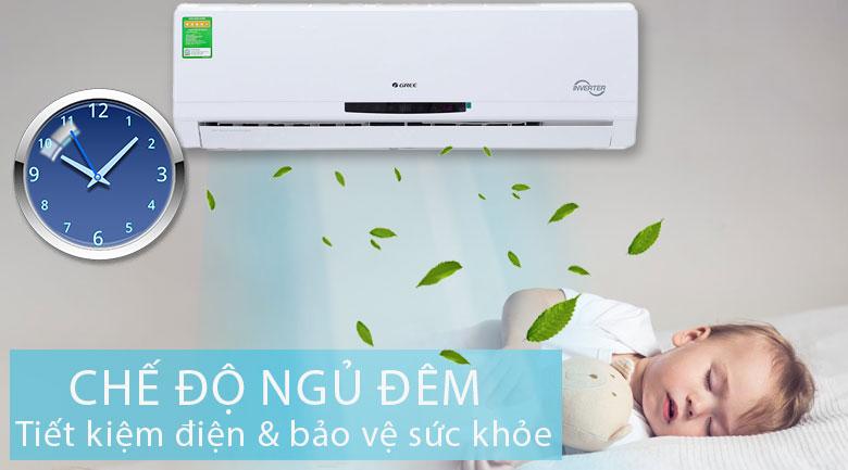 chế độ ngủ đêm - Điều hòa treo tường Gree GWC12MA-K3DNC2I Inverter 1.5HP