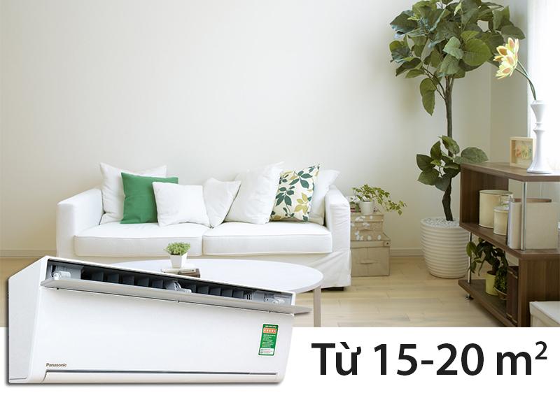 Phù hợp với gian phòng có diện tích từ 15-20 m2