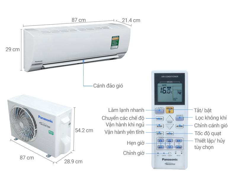 Thông số kỹ thuật Máy lạnh Panasonic 1.5 HP CU/CS-PU12TKH-8