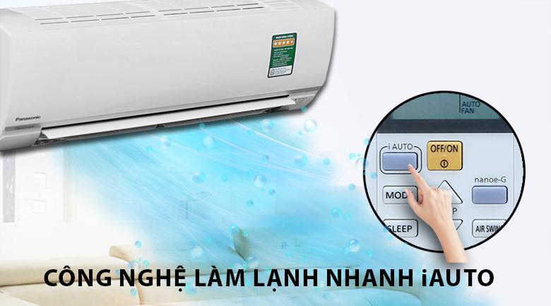 Làm lạnh nhanh - Máy lạnh Panasonic Inverter 1.5 HP CU/CS-PU12TKH-8