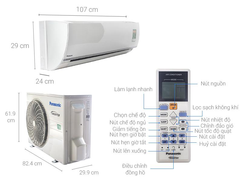 Thông số kỹ thuật Máy lạnh Panasonic Inverter 2 HP CU/CS-PU18TKH-8