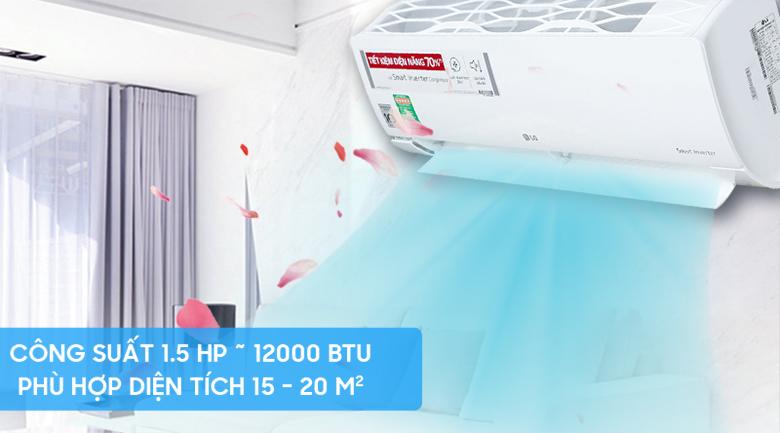 Công suất 1.5 HP - Máy lạnh LG Inverter 1.5 HP V13ENR