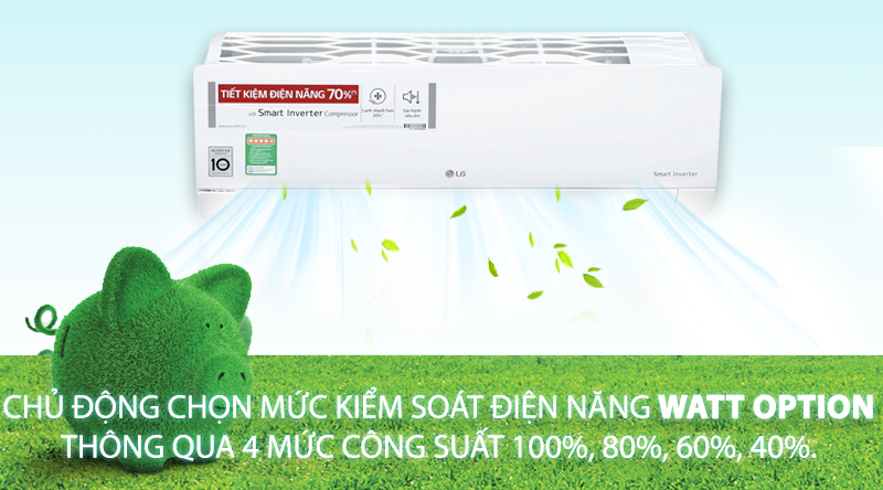 Watt Option - Máy lạnh LG Inverter 1.5 HP V13ENR