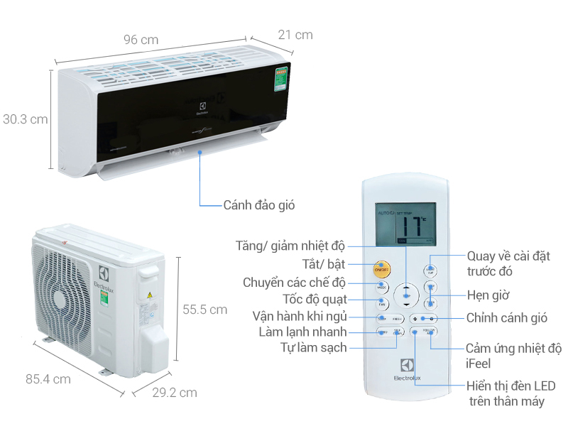 Thông số kỹ thuật Máy lạnh Electrolux Inverter 2 HP ESV18CRK-A1