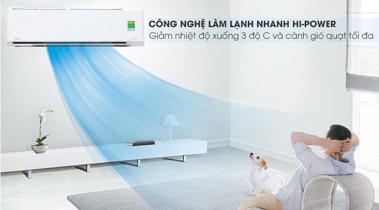 Làm lạnh nhanh - Máy lạnh Toshiba Inverter 2 HP RAS-H18PKCVG-V