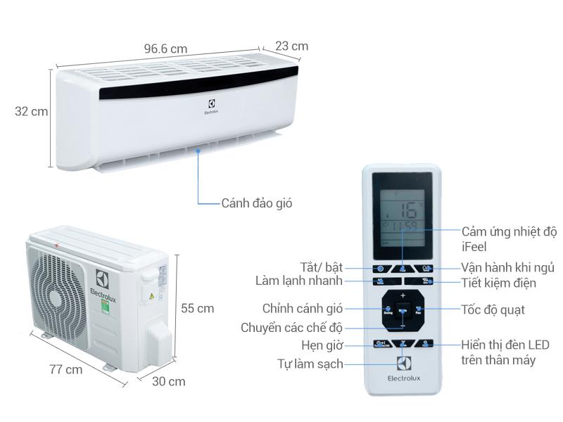 Thông số kỹ thuật Máy lạnh Electrolux 1.5 HP ESM12CRM-A4