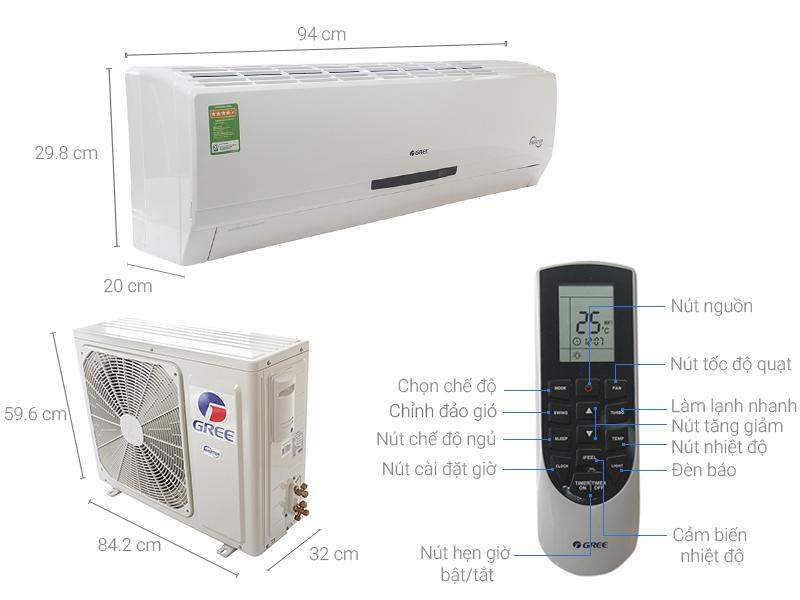Thông số kỹ thuật Máy lạnh Gree Inverter 2 HP GWC18MC-K3DNC2L