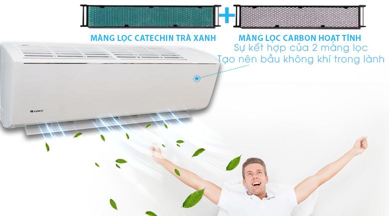 Màng lọc kháng khuẩn - Máy lạnh Gree Wifi Inverter 1.0 HP GWC09QB-K3DNB6B