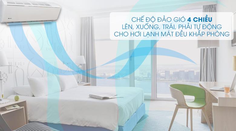 Chế độ đảo gió 4 chiều - Máy lạnh Gree Wifi Inverter 1.0 HP GWC09QB-K3DNB6B