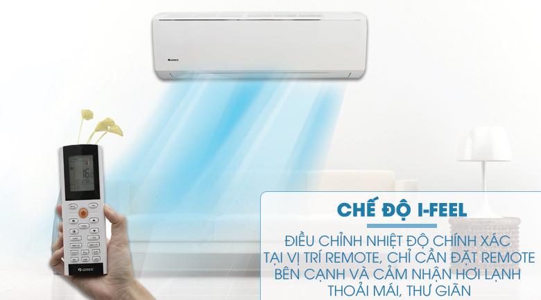 Chế độ I-Feel - Máy lạnh Gree Wifi Inverter 1.0 HP GWC09QB-K3DNB6B