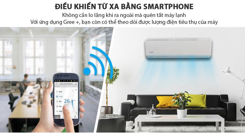 Điều khiển máy lạnh qua smartphone - Máy lạnh Gree Wifi Inverter 1.0 HP GWC09QB-K3DNB6B
