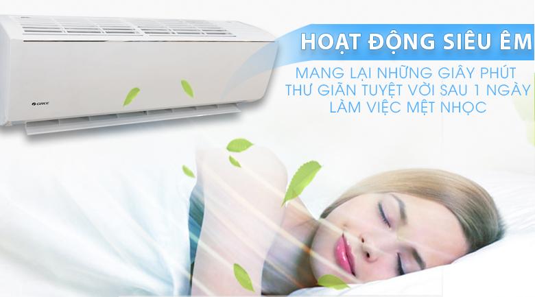 Hoạt động siêu êm - Máy lạnh Gree Wifi Inverter 1.0 HP GWC09QB-K3DNB6B