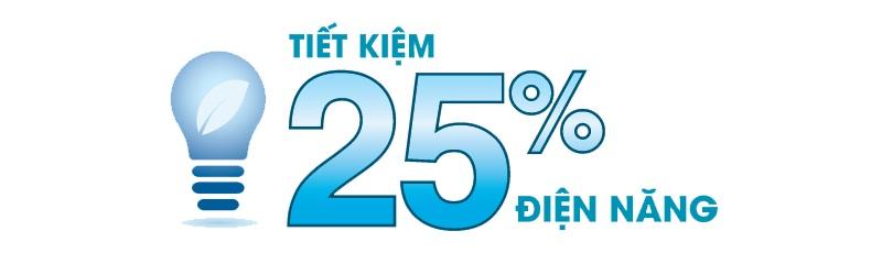 Eco Mode tiết kiệm đến 25% điện năng