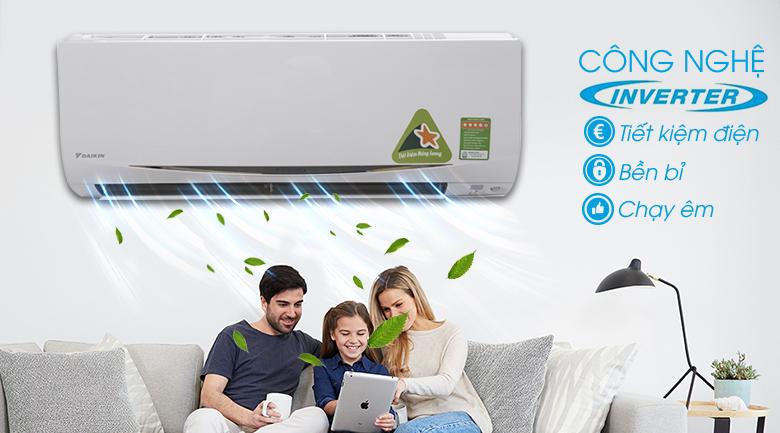 Vận hành êm ái - Máy lạnh Daikin Inverter 1.5 HP FTKC35RVMV