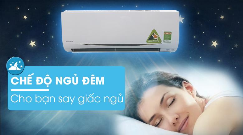 Chế độ ngủ đêm - Máy lạnh Daikin Inverter 1.5 HP FTKC35RVMV