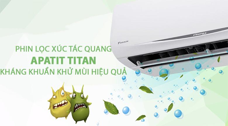 Màng lọc Apatit Titan - Máy lạnh Daikin Inverter 1.5 HP FTKC35RVMV