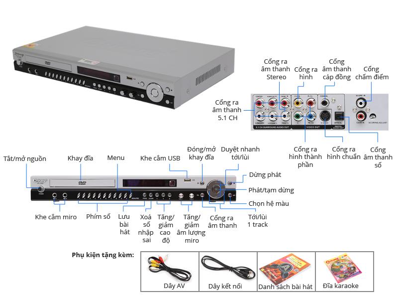 Thông số kỹ thuật DVD Karaoke Arirang AR-36M