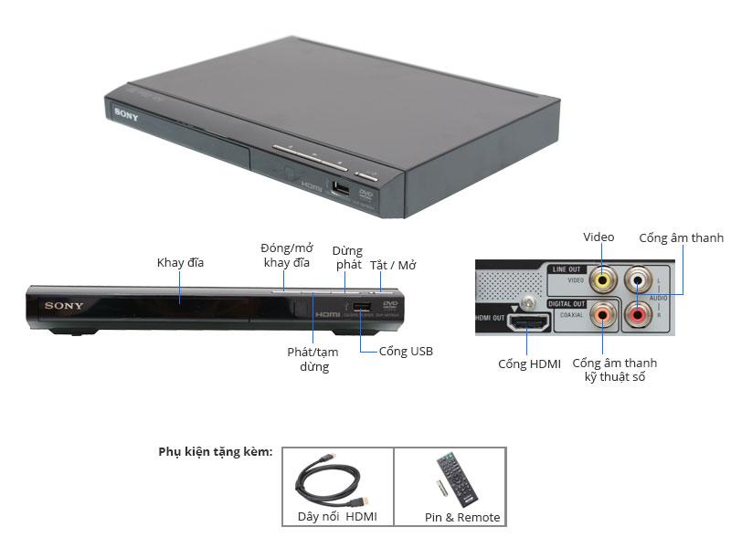 Thông số kỹ thuật DVD Sony DVP-SR760