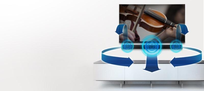 Loa Soundbar 2.1 Samsung HW-K450/XV-Âm thanh vòm lấp đầy không gian