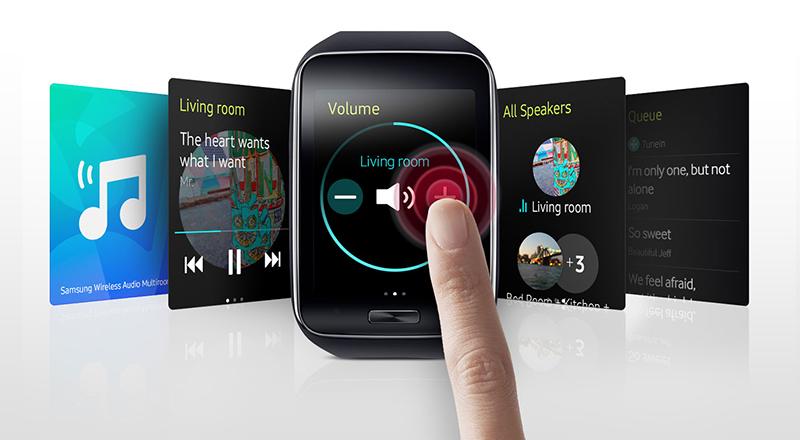 Loa không dây Samsung 360 WAM1500 - Điều khiển loa bằng đồng hồ