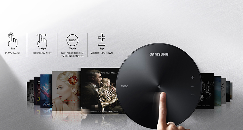 Loa không dây Samsung 360 WAM1500 - Bảng điều khiển dễ dùng