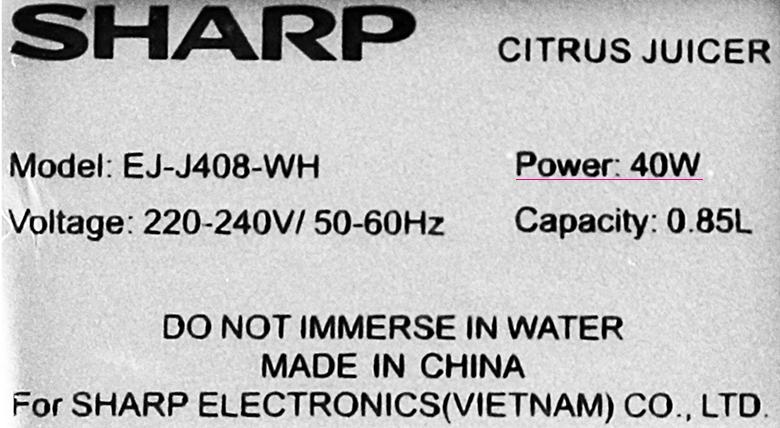 Vắt hiệu quả - Máy vắt cam Sharp EJ-J408-WH