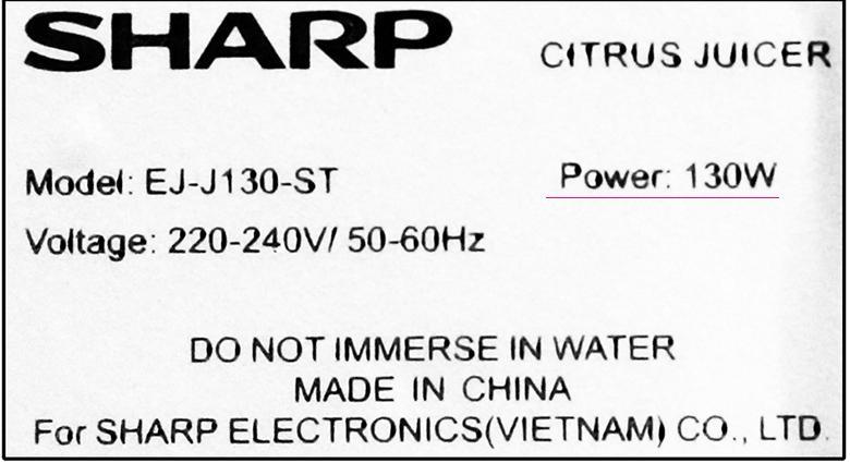 Vắt cực nhanh - Máy vắt cam Sharp EJ-J130-ST