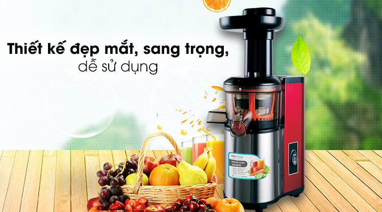 Máy ép trái cây Korihome JEK-636 - Thiết kế đẹp mắt, màu đỏ đen sang trọng, lịch lãm, nổi bật trong mọi gian bếp