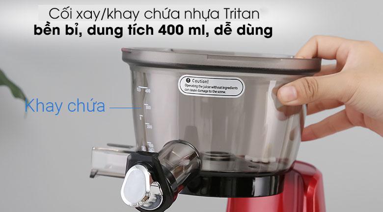 Máy ép Kuvings E700 - Cối xay/khay chứa nhựa Tritan dung tích 400 ml