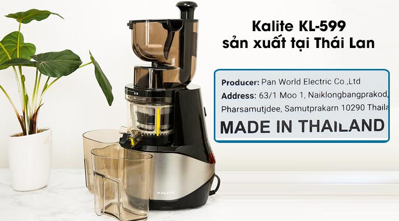 Máy ép chậm Kalite KL-599 - An tâm khi sử dụng nhờ sản xuất tại Thái Lan theo công nghệ Úc tiên tiến