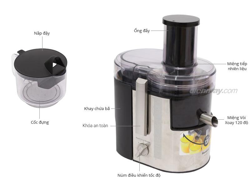 Thông số kỹ thuật Máy ép trái cây Panasonic MJ-DJ01SRA
