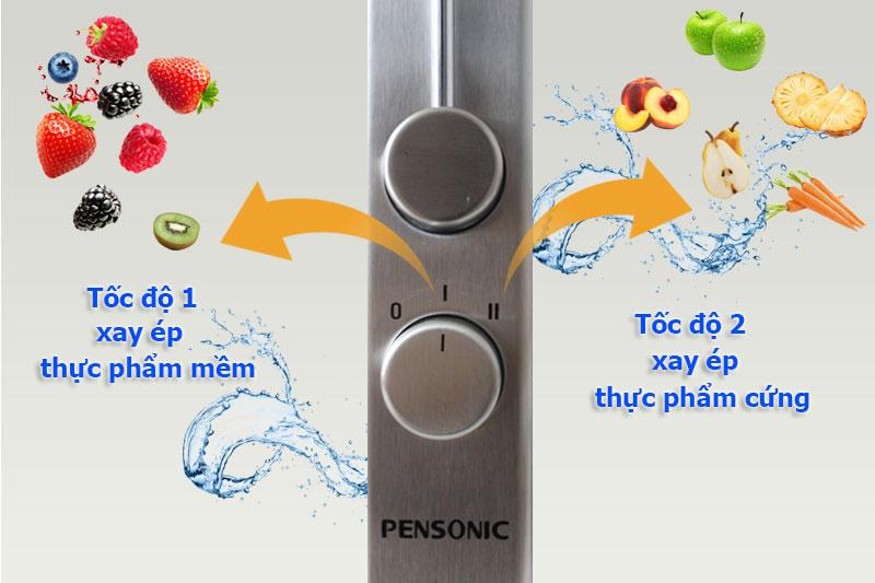 1 nút xoay tùy chinh 2 tốc độ ép tiện lợi - Máy ép trái cây Pensonic PJ-600
