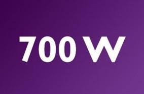 Máy hoạt động với công suất 700W