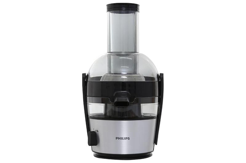 Ống tiếp nguyên liệu lớn dễ ép thực phẩm - Máy ép hoa quả Philips HR1863